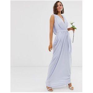 GORGEOUS • ASOS NWT Ice Blue Plunge Maxi Dress